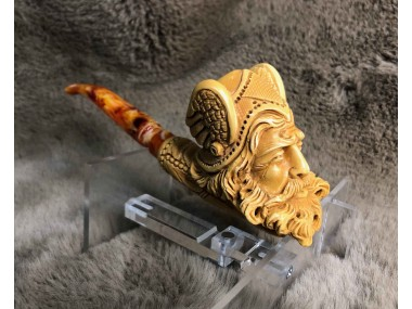 Handmade Block  Meerschaum  Viking Pipe