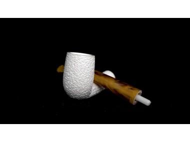 Handmade Block  Meerschaum Rustic Pipe