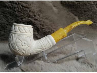 Hard Details Block Meerschaum Pipe
