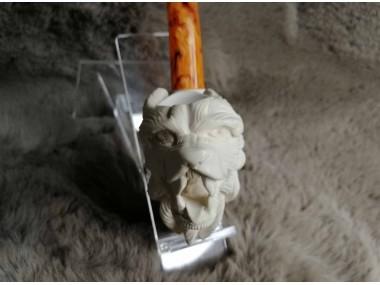 Block Meerschaum Wolf Pipe