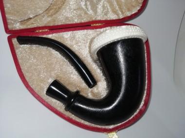Block Meerschaum Calabash Pipe BLACK