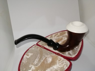 Block Meerschaum Calabash Pipe Dark Brown