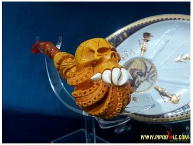 Meerschaum  Octopus Skull Pipe