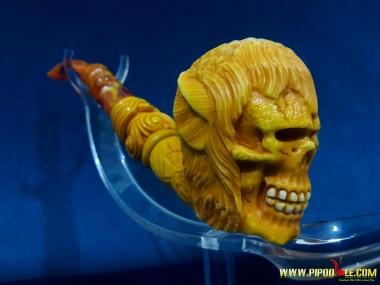 Meerschaum Mutation Skull Pipe