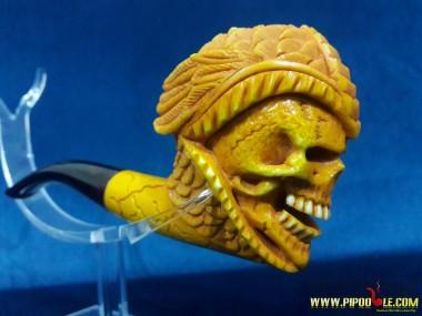 Meerschaum Warior Skull Pipe