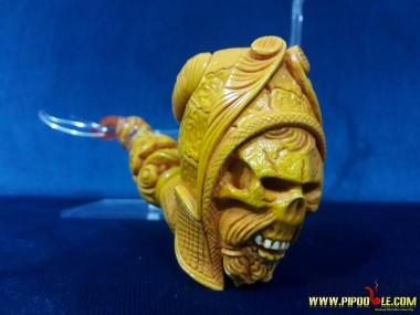 Meerschaum Viking Skull Pipe