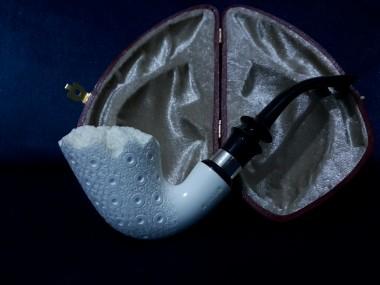 Figural Meerschaum  Horn Pipe