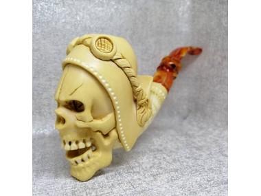Meerschaum Pilot Skull Pipe