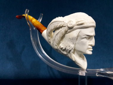 Block Meerschaum Indian Man Pipe