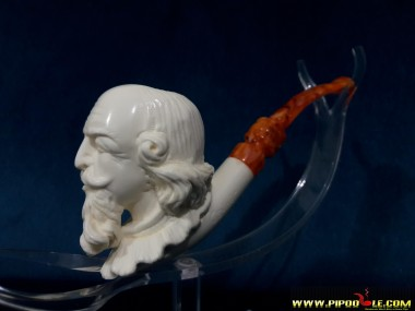 Block William Shakespeare Portre Pipe