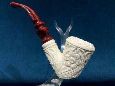 Handcarved Figural Meerschaum Pipe