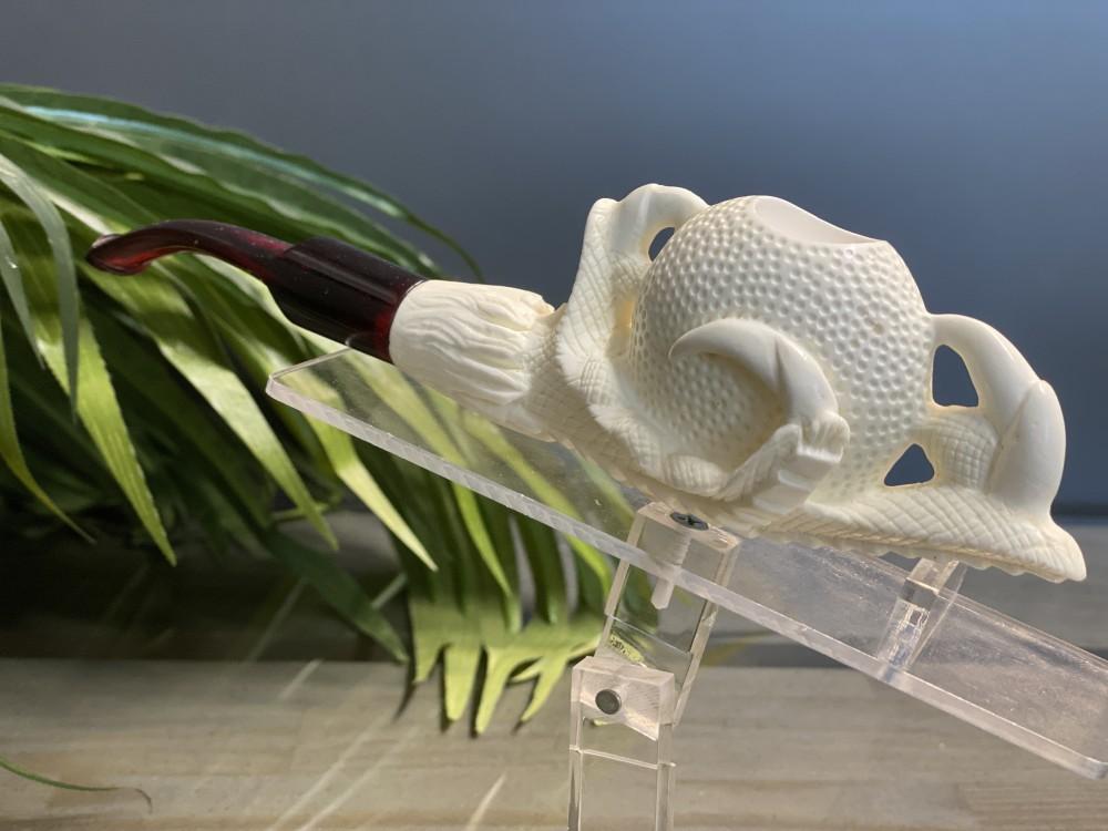 Block Meerschaum Claw Pipe