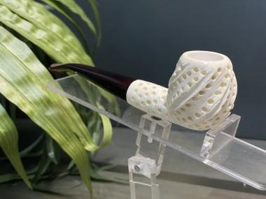 Handcarved Block Meerschaum Pipe